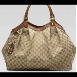 Brown Gucci bag